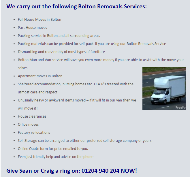 af9e14030e9b Bolton Man and van Services Budget House Removals 01204940204 for Quote